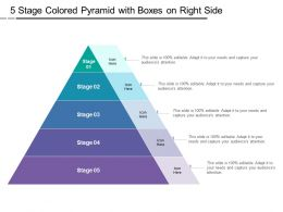 5 Stage Colored Pyramid With Boxes On Right Side