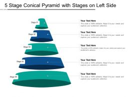 5 Stage Conical Pyramid With Stages On Left Side