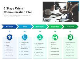 5 Stage Crisis Communication Plan