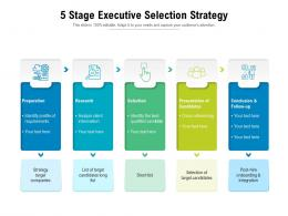 5 Stage Executive Selection Strategy