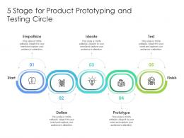 5 Stage For Product Prototyping And Testing Circle