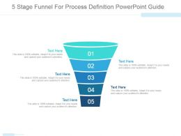 5 Stage Funnel For Process Definition Powerpoint Guide