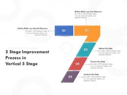 5 Stage Improvement Process In Vertical 5 Stage