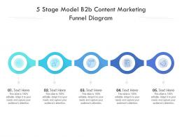 5 Stage Model B2b Content Marketing Funnel Diagram Infographic Template