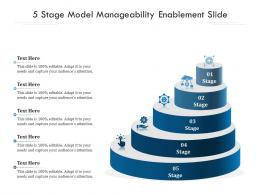 5 Stage Model Manageability Enablement Slide Infographic Template