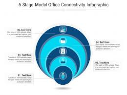 5 Stage Model Office Connectivity Infographic Template
