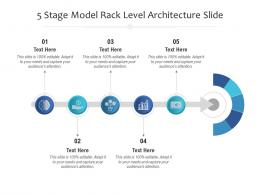5 Stage Model Rack Level Architecture Slide Infographic Template