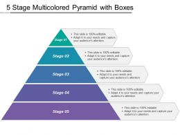 5 Stage Multicolored Pyramid With Boxes