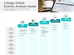 5 Stage Online Business Analysis Model