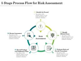 5 Stage Process Flow For Risk Assessment
