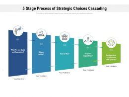 5 Stage Process Of Strategic Choices Cascading