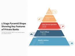 5 Stage Pyramid Shape Showing Key Features Of Private Banks