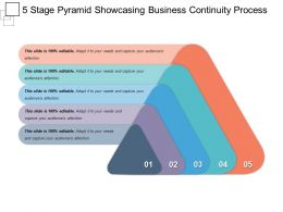 5 Stage Pyramid Showcasing Business Continuity Process Ppt Daigram