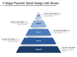 5 Stage Pyramid Spiral Design With Boxes