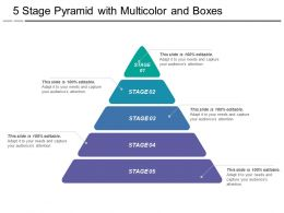5 Stage Pyramid With Multicolor And Boxes