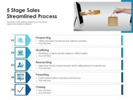 5 Stage Sales Streamlined Process