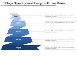 5 Stage Spiral Pyramid Design With Five Boxes
