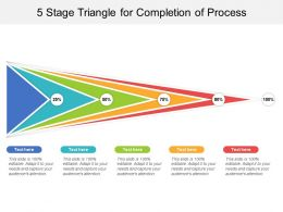 5 Stage Triangle For Completion Of Process