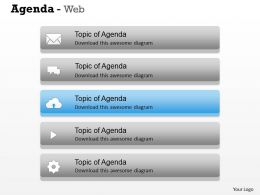 5 Staged Business Agenda Topic Display Diagram 0114