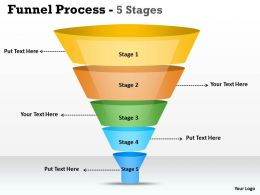 5 Staged Business Funnel Diagram