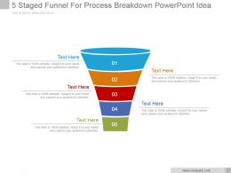 5 Staged Funnel For Process Breakdown Powerpoint Ideas