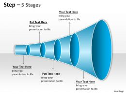 5 Staged Linear Funnel Diagram
