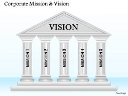 5 Staged Mission And Vision Diagram 0114