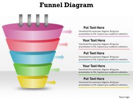5 Staged Unique Design Business Funnel Diagram