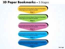 5 Stages Bookmarks Diagram