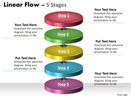 5 Stages Business Diagram