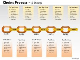 5 Stages Chain Process Powerpoint Slides