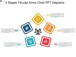 5 Stages Circular Arrow Chart Ppt Diagrams