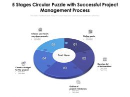5 Stages Circular Puzzle With Successful Project Management Process