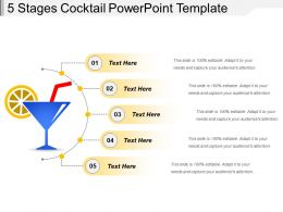 5 Stages Cocktail Powerpoint Template