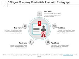 5 Stages Company Credentials Icon With Photograph