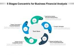 5 Stages Concentric For Business Financial Analysis