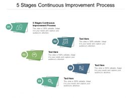 5 Stages Continuous Improvement Process Ppt Powerpoint Presentation Show Layouts Cpb