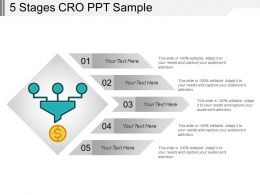 5 Stages Cro Ppt Sample