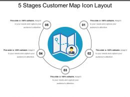 5 Stages Customer Map Icon Layout