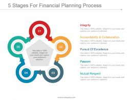 5 Stages For Financial Planning Process Powerpoint Shapes
