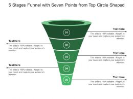 5 Stages Funnel With Seven Points From Top Circle Shaped