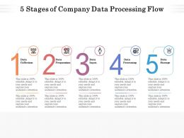 5 Stages Of Company Data Processing Flow