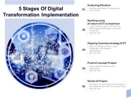5 Stages Of Digital Transformation Implementation