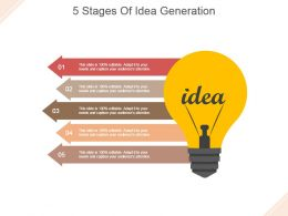 5 Stages Of Idea Generation Powerpoint Slide Templates Download