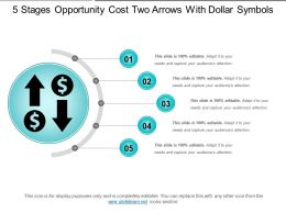 5 Stages Opportunity Cost Two Arrows With Dollar Symbols