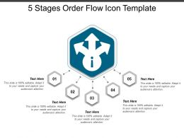 5 Stages Order Flow Icon Template