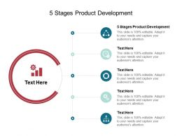 5 Stages Product Development Ppt Powerpoint Presentation Icon Microsoft Cpb