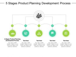 5 Stages Product Planning Development Process Ppt Powerpoint Presentation Layouts Example Cpb