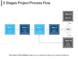 5 Stages Project Process Flow PowerPoint Slide Background Picture
