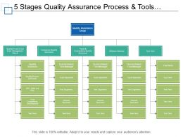 5 Stages Quality Assurance Process And Tools Org Chart